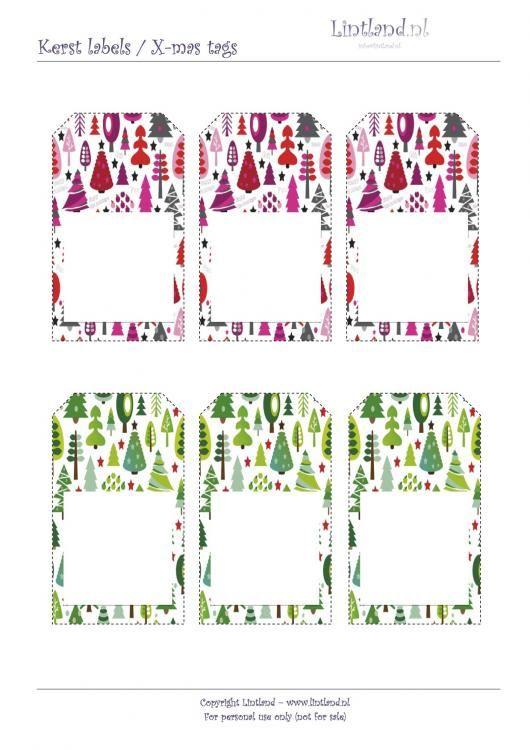 Kerst labels - Lintland, gratis afdrukken / printen. X-mas tags / christmas tags free printable - freebies www.lintland.nl