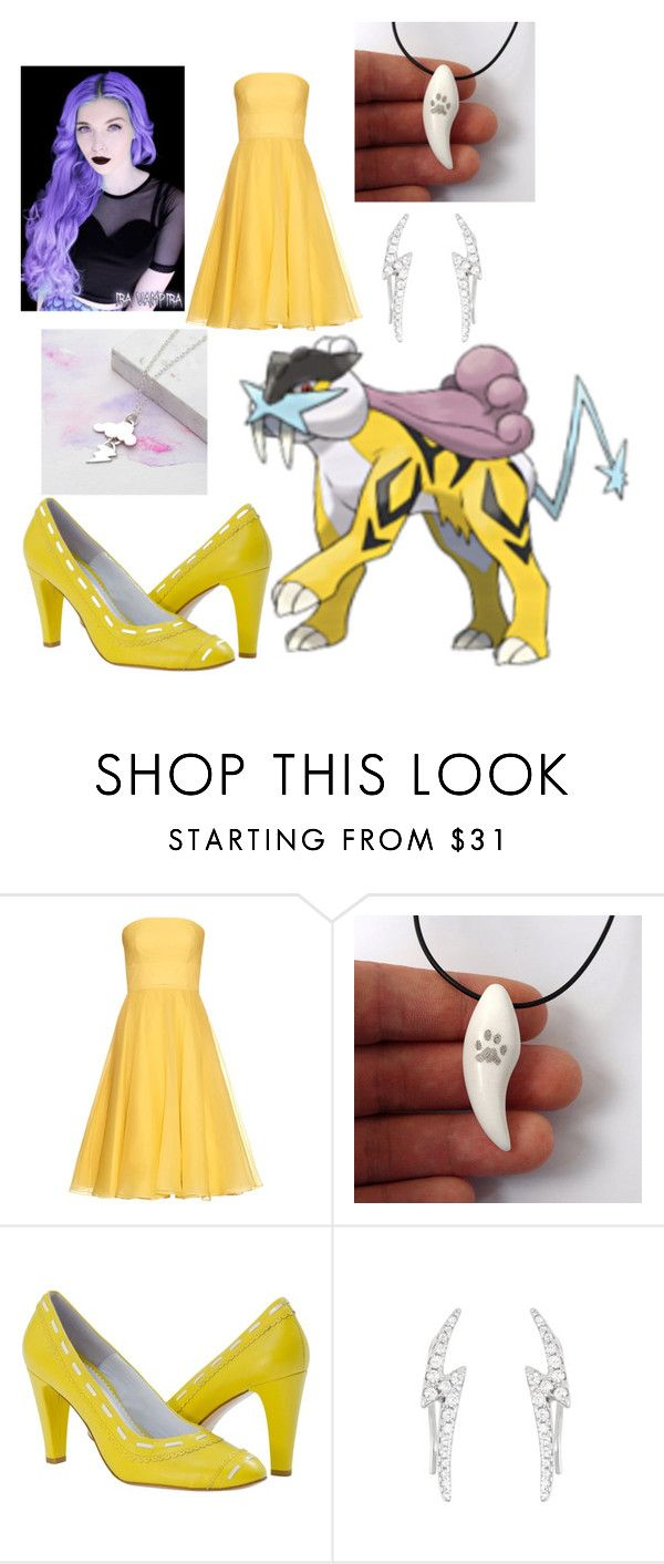 """Pokemon - Raikou"" by queen-taylor-brie ❤ liked on Polyvore featuring Alexander McQueen, Albino and La Preciosa"
