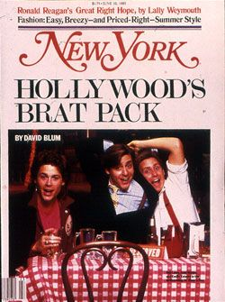 The original Brat Pack article  The Birth of Hollywood's Brat Pack -- New York Magazine