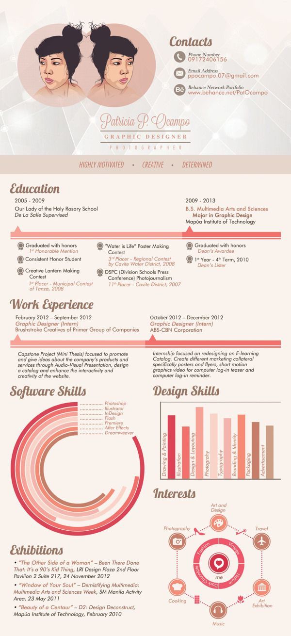 284 Best Infographic Resumes Images On Pinterest