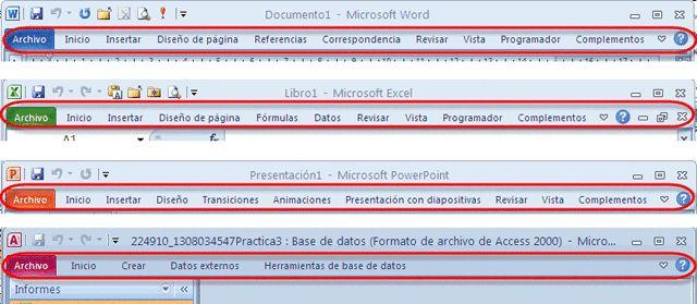 Tarea 1 Periodo 1 : Interfaz de Microsoft Office Word 2010