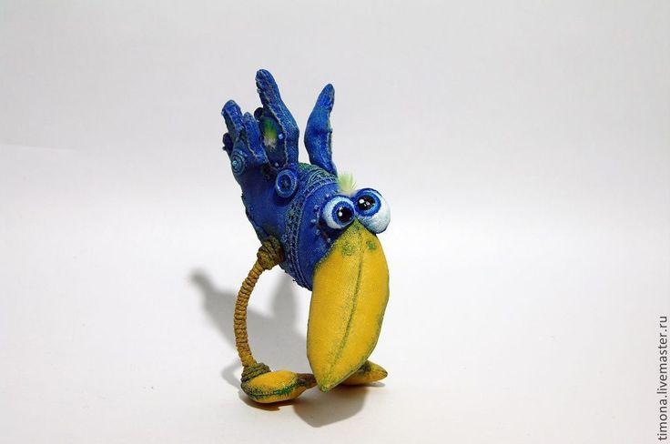 Купить Птица цвета Ультрамарин - синий, Ультрамарин, синяя птица, птица счастья, подарок