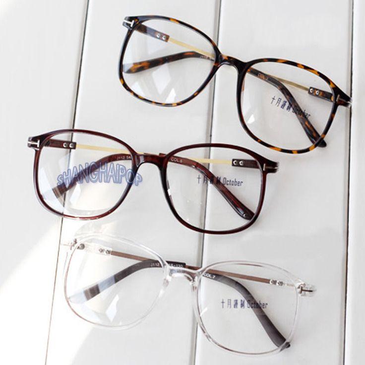 Large Square Glasses Clear Lens Nerd Retro Vintage Fashion Black/Leopard Unisex #generic #Square