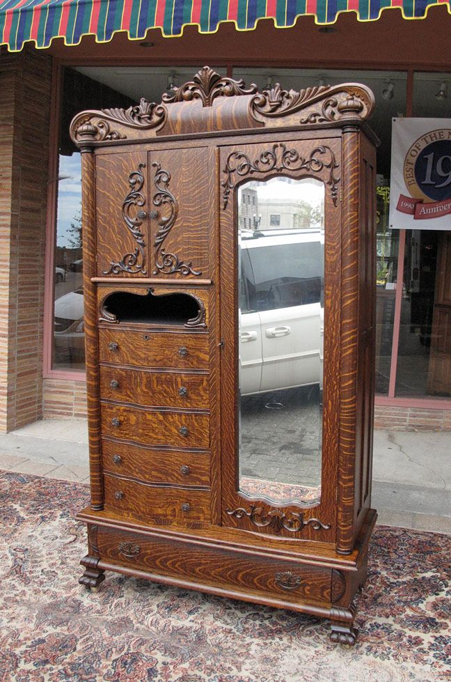 antique furniture armoire. antique oak chifferobe karges quartersawn chifferobearmoire furniture armoire e