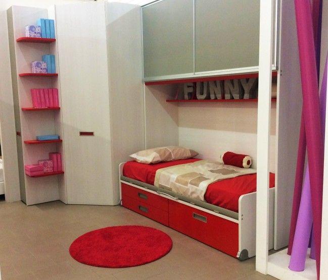 Moretti Compact Camerette A Soppalco.Cameretta Moretti Compact A Ponte Con Cabina Angolo Kids Room