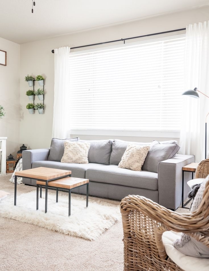 Minimalist living room decor makeover