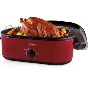 Oster 24-Pound Turkey Roaster Oven, 18-Quart.  Can also be used as a slow--cooker!