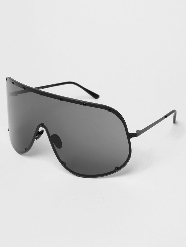 Rick Owens Men's Sunglasses in black tint at oki-ni