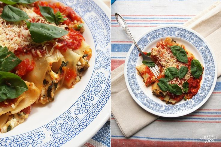 Каннеллони с овощами и сыром