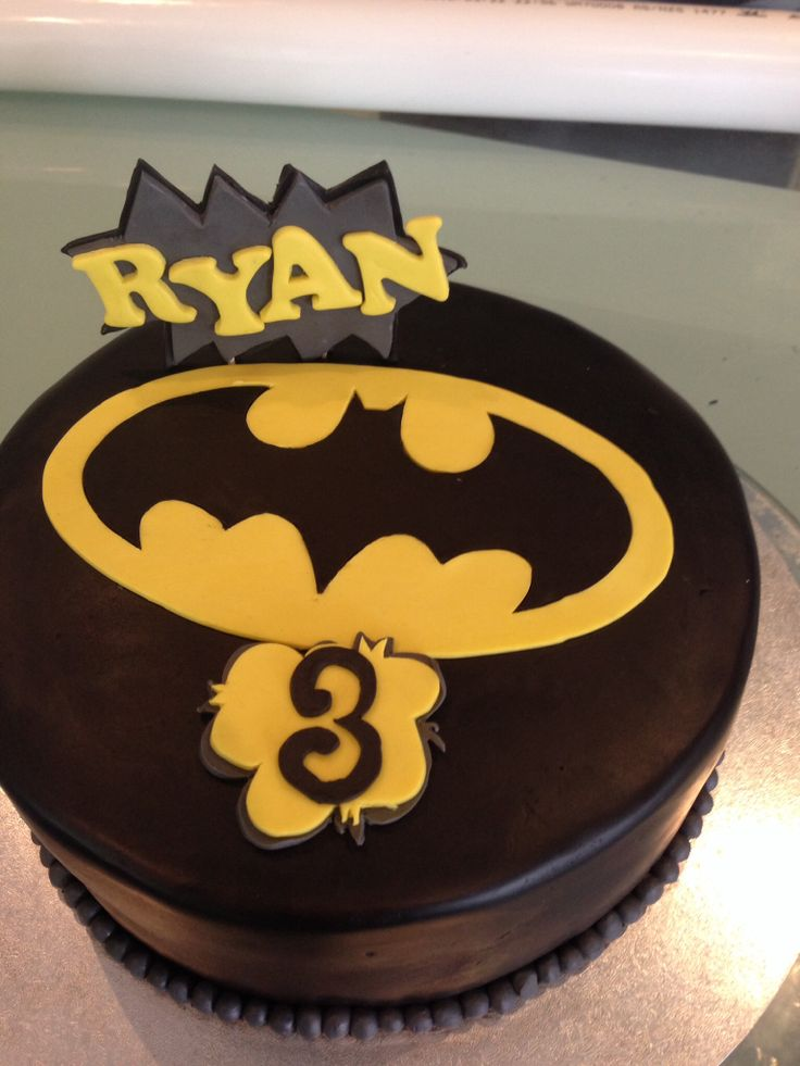 Last minute Batman cake