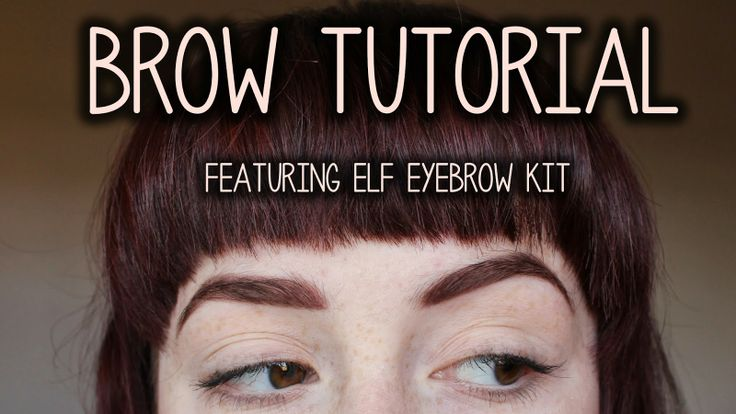 coffee_pls: It's all about BROWS! Tutorial using ELF Eyebrow Kit