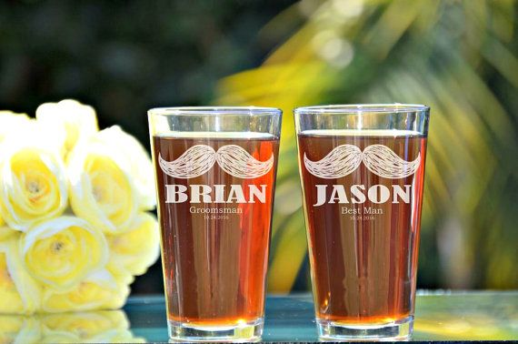 Mustache Glasses, Mustache Beer, Mustache Theme, Groomsmen Pint Glass, Mustache Favors, Wedding Party Pint Glasses, Stache, Mustache Pint