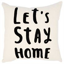 Expressions Pillow – Let's Stay Home
