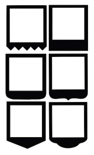 Free Silhouette polaroid frames
