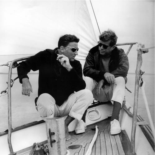 John Kennedy and Peter Lawford