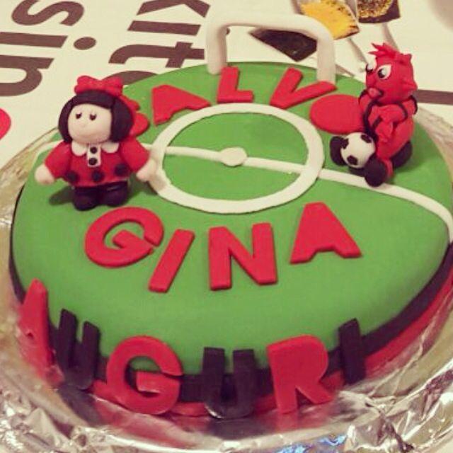 Milan-Mafalda topper cake