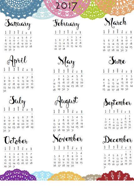 Kalender anno 2017