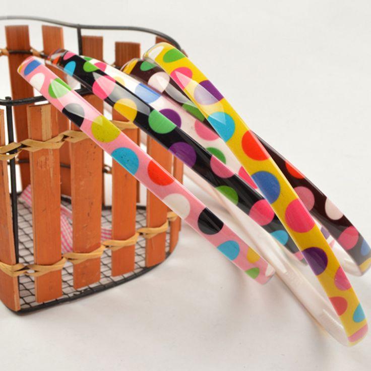 Аксессуары для волос Головной убор Большая волна Точка Цвет волна Точка Ленты для волос Заставка 8мм Конфеты Цвет