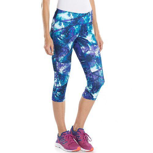 Women's Tek Gear® Capri Workout Leggings - Galaxy Teal