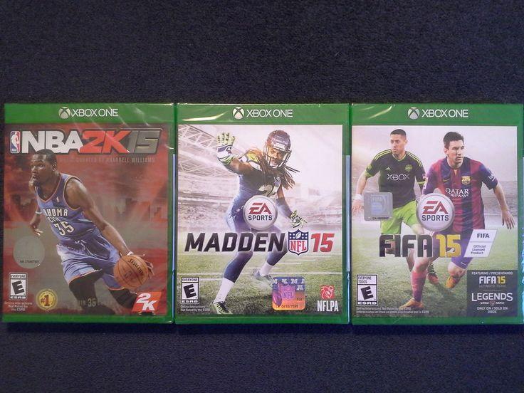 #XboxOne NBA2K15,Xbox One Madden 15,Xbox One Fifa 15(Brand New Factory Sealed)