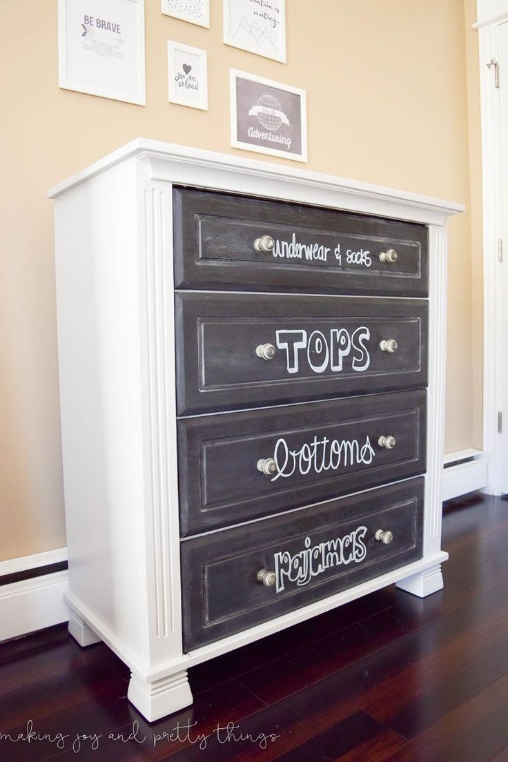 There is a dressing table mirror and lockers and drawersgalore - One Room Challenge Week 6 A Shared Boys Bedroom Reveal Plus An Exciting Announcement