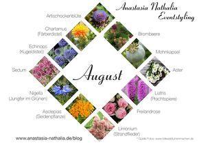 August Blumen Des Monats Anastasia Nathalia Eventstyling August Blumen Blumen Juni Hochzeit Blumen August Hochzeit