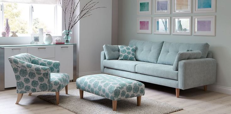 Teal sofa set for 7 seater living room