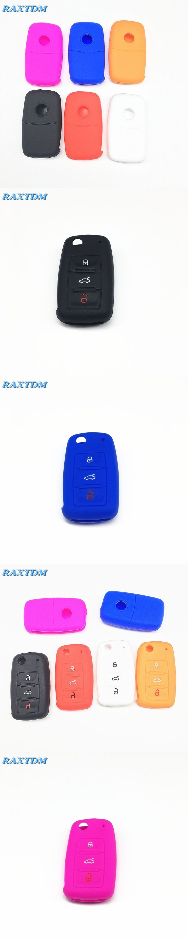Silicone Car Key Cover Case Shell Fob For VW Golf Bora Jetta POLO Passat Skoda Superb Octavia Fabia SEAT Ibiza Leon,car Styling