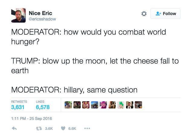 Trump Clinton Presidential Debate 2016 election