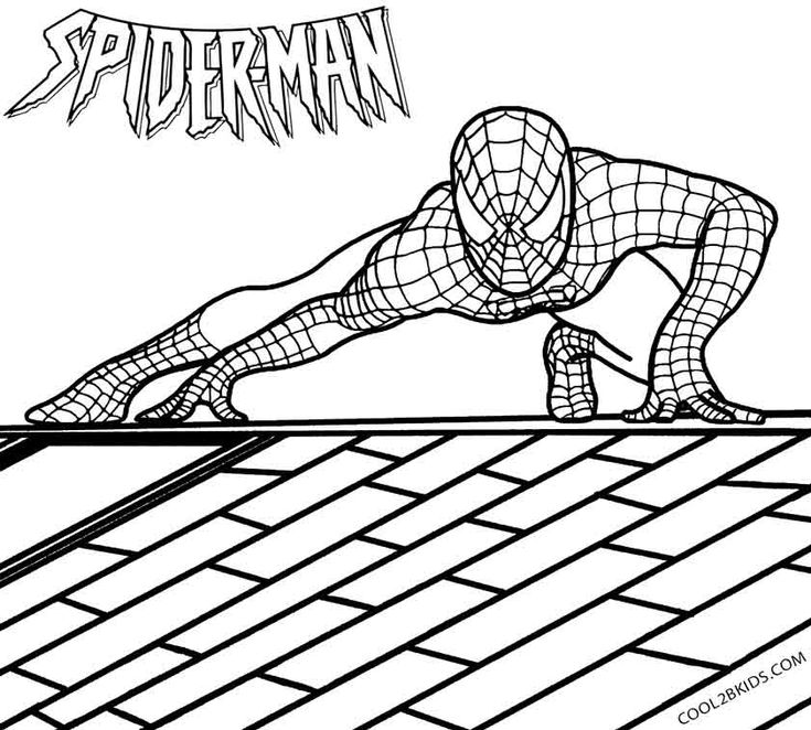 Printable Spiderman Coloring Pages For Kids