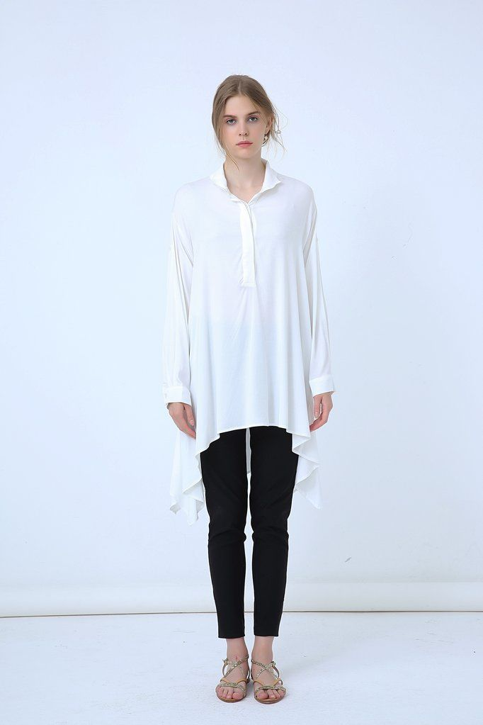 18A8046 OVERSIZE ROLL UP COLLAR SHIRT (more colours available)