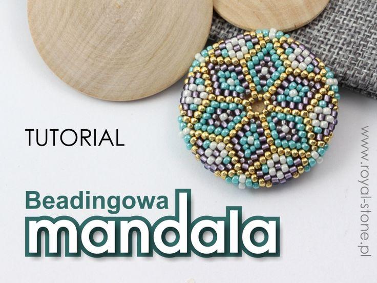 Pastelowa mandala – beadingowy oplot drewnianego dysku (tutorial)