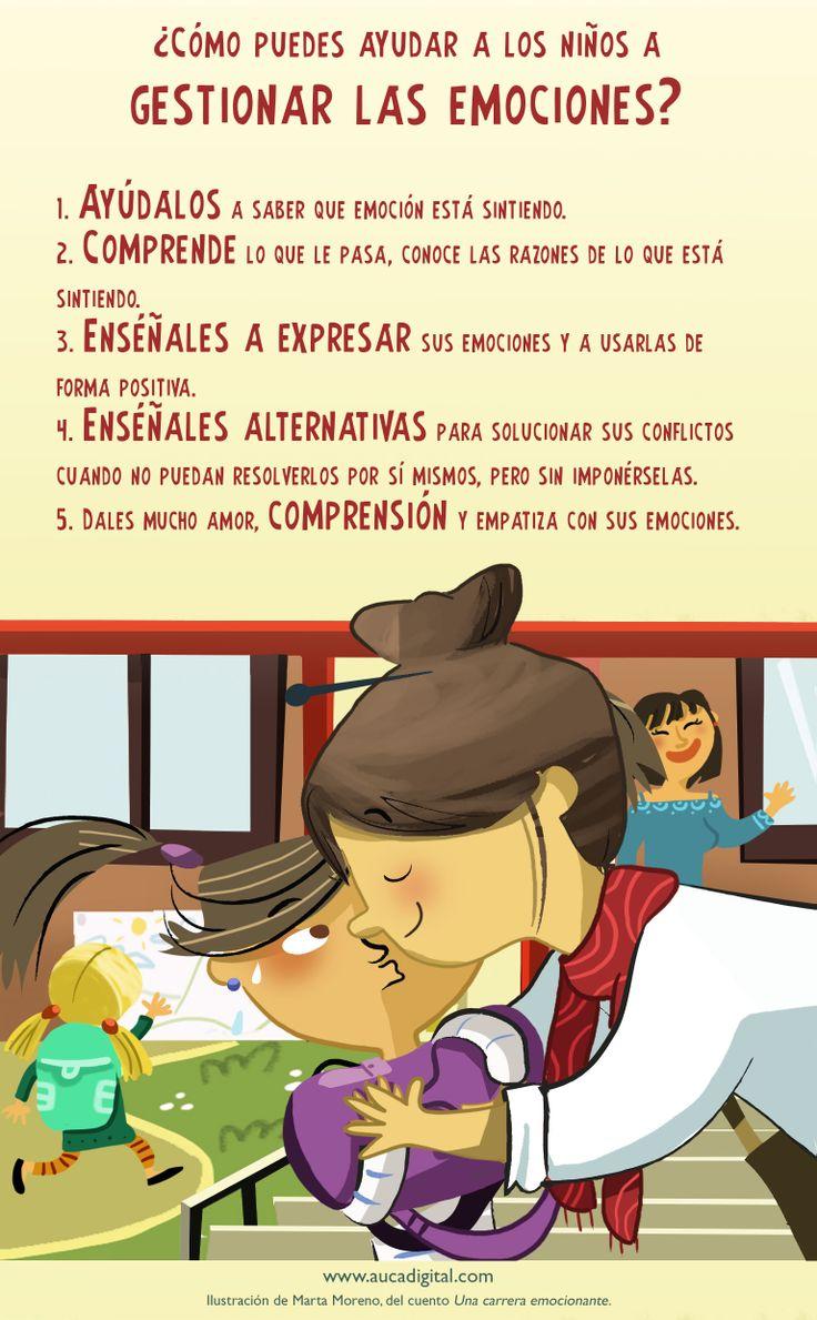 ¿Cómo puedes ayudar a los niños a gestionar las emociones?
