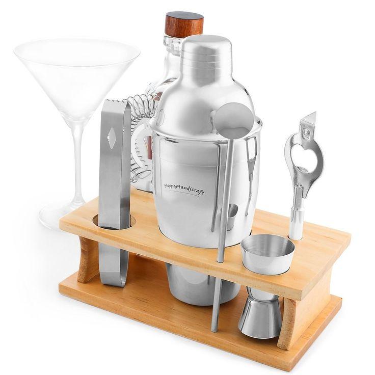 Deluxe Cocktail Gift Set Bar Shaker Bartender Tool Kit Mixology Alcohol Liquor #DeluxeCocktailGift