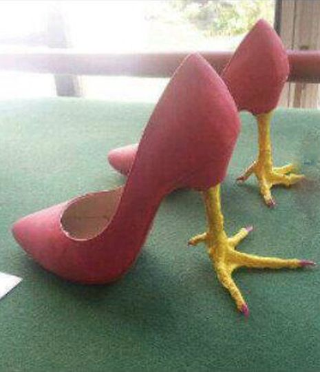 High Heel Chicken Feet Shoes ---- funny pictures hilarious jokes meme humor walmart fails
