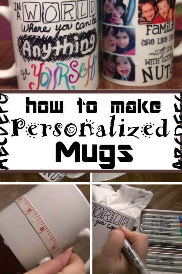 Bring a creative twist to your plain white mugs with DIY personalized mugs. It brings a personal touch to your mugs.