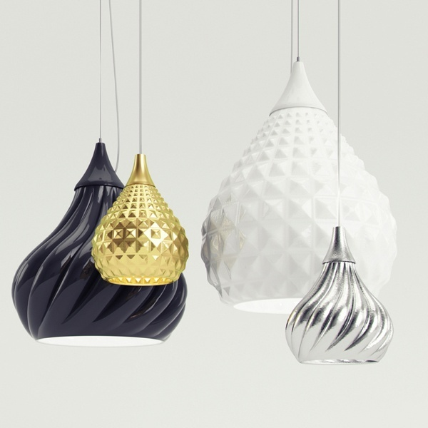 Ruskii And Ruskii Twist Are Two Suspension Lamps Designed By Italian  Designer Enrico Zanolla For Viso Inc. The Lamps Are Constructed Of Ceramic,  ...