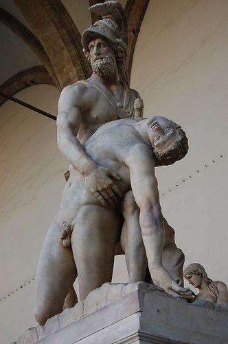 Patroclus and Menelaus  a copy  of  a Greek  original,dates from the Flavian era.