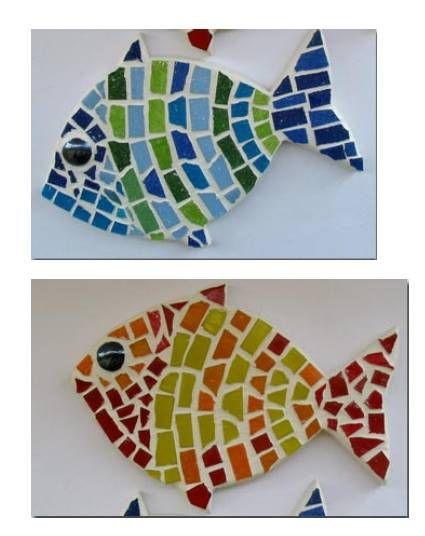 M s de 25 ideas incre bles sobre proyectos de mosaico solo for Pegatinas de peces