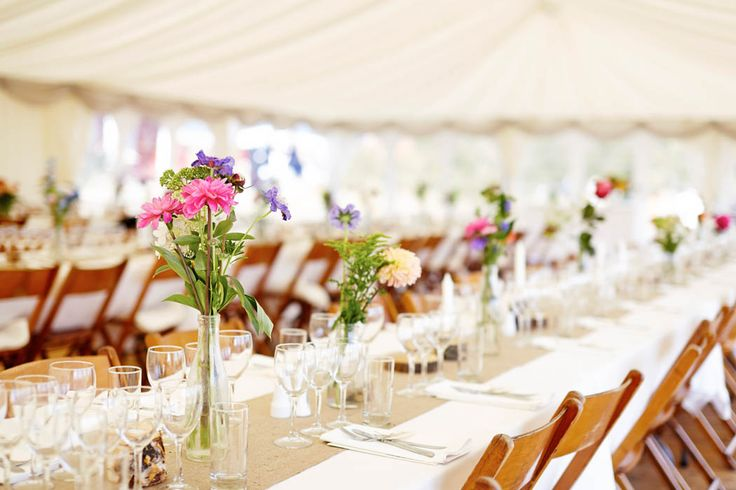 summer table decor, wedding decor, summer wedding decor Beautiful DIY Wedding - Gent & Beauty Photography: Think Photography