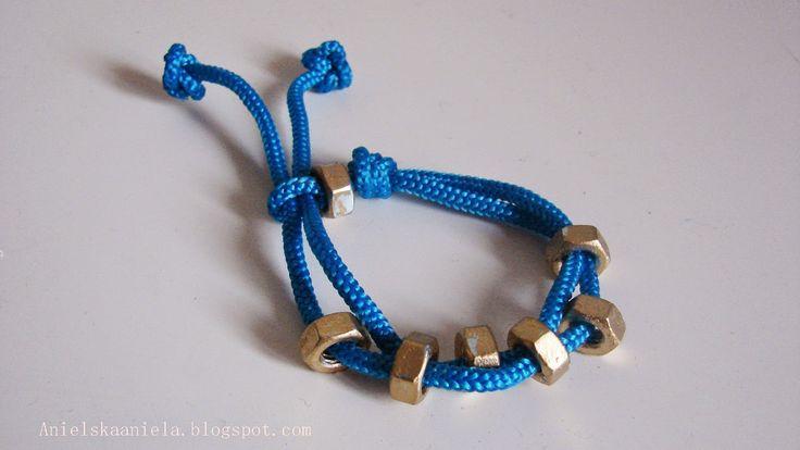 DIY Hex nuts bracelet bransoletka ze sklepu metalowego diy