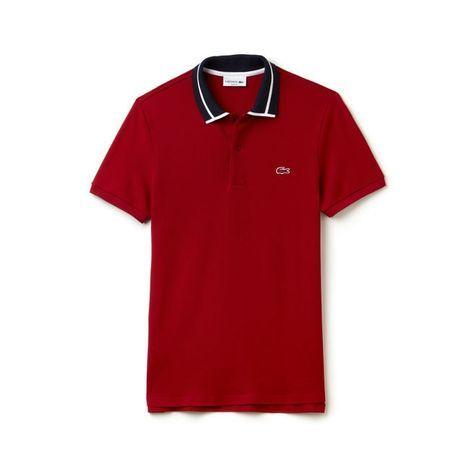 Men's Lacoste Slim Fit Piped Thick Cotton Piqué Polo | LACOSTE