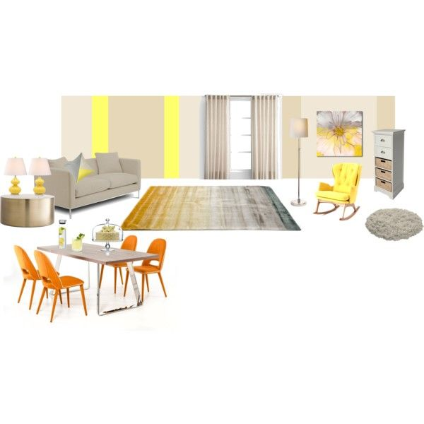 Lemon room by viktoria-vepy on Polyvore featuring interior, interiors, interior design, home, home decor, interior decorating, GALA, Linie Design and Blomus