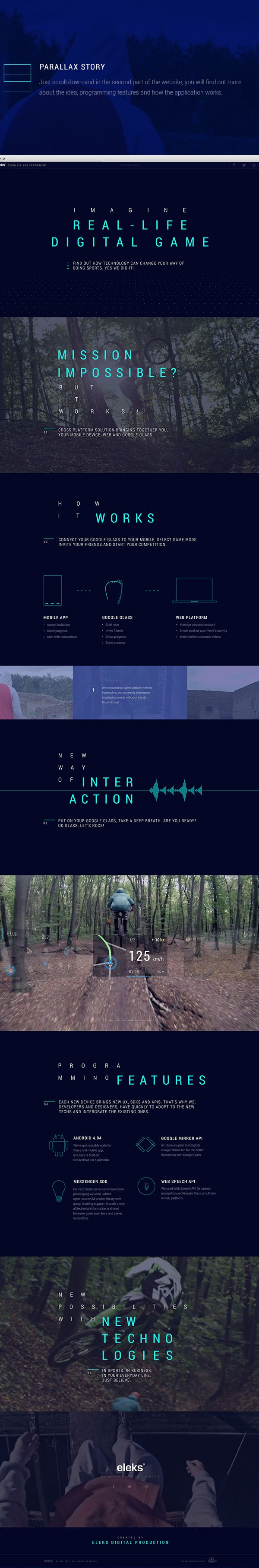 ELEKS Google Glass Experiment by Oleg Gasioshyn, via Behance