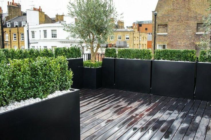 Terraza 50 ideas incre bles para decorarla con plantas for Plantas jardineras terraza