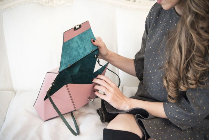 Leather, handmade beautiful bag made by Luvers