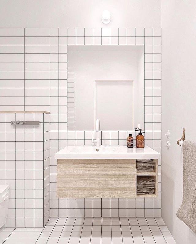 // The we haven't posted anything in 2 days post ;) GRID perfection by @int2architecture. Team DS. X #designstuff #didyoumissus #wemissedyou #bathroom #bathroomdesign #bathroominspo #bathroominspiration #leather #grid #whitetapware #squaretiles #whitetiles #interiordesign #interiorinspiration #whiteonwhite
