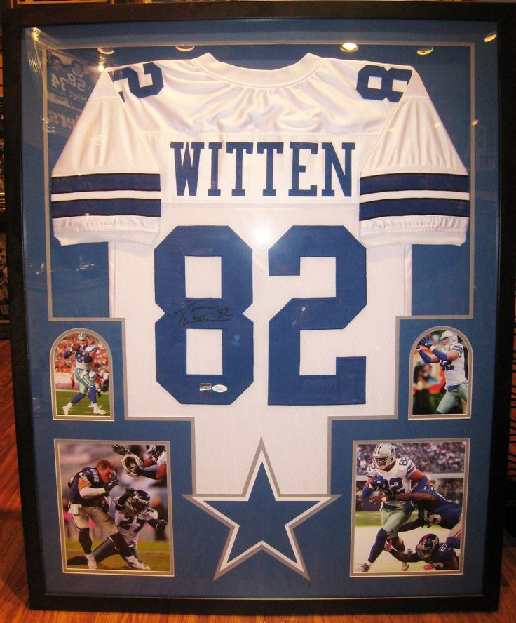 framed autographed signed jason witten dallas cowboys jersey jsa coaholo