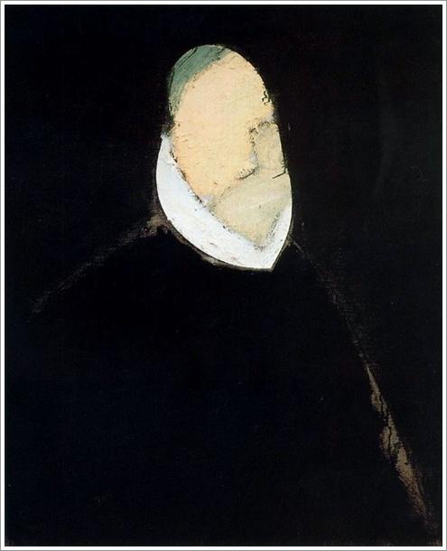 Manolo Valdés Rodrigo de la Fuente II (1986. Óleo sobre lino. 100 x 81 cm)  http://klandestinos.over-blog.es/article-manolo-valdes-107889489.html