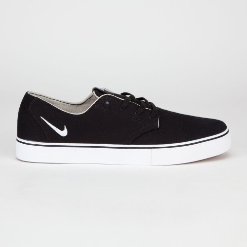 Nike 6.0 Braata LR Canvas Skate Shoes Black/Gum Med Brown/White Mens on